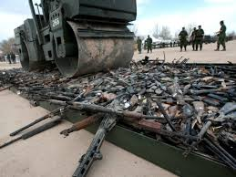 Will this image of Australian gun confiscation be repeated in California?